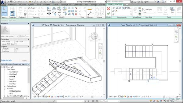 Working with component-based stairs: Revit 2017: Essential Training for Architecture (Imperial)