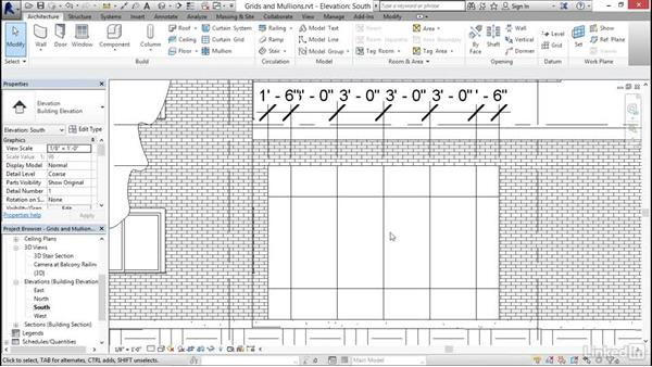 Adding curtain grids, mullions, and panels: Revit 2017: Essential Training for Architecture (Imperial)