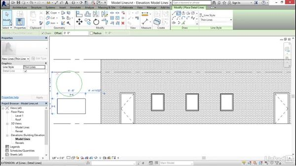 Model lines: Revit 2017: Essential Training for Architecture (Imperial)