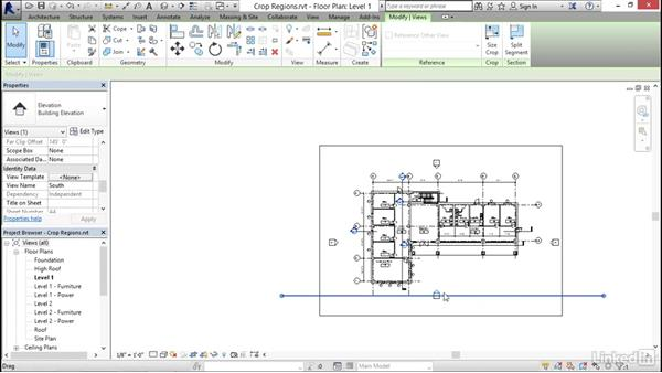 Understanding view extents and crop regions: Revit 2017: Essential Training for Architecture (Imperial)