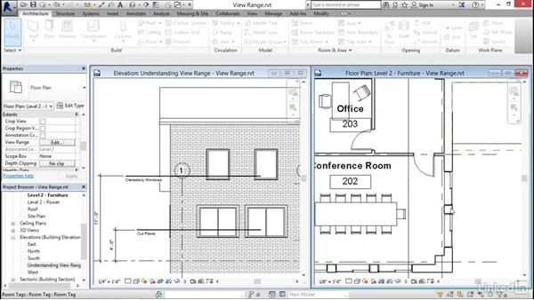 Understanding view range: Revit 2017: Essential Training for Architecture (Imperial)