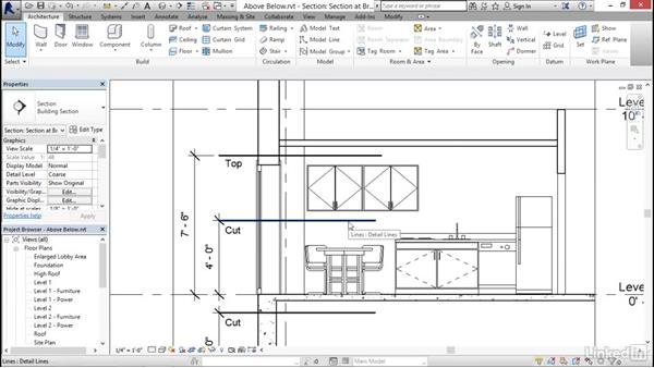 Displaying objects above and below in plan views: Revit 2017: Essential Training for Architecture (Imperial)