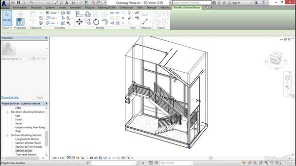 Using cutaway views: Revit 2017: Essential Training for Architecture (Imperial)