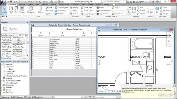 Understanding room bounding elements: Revit 2017: Essential Training for Architecture (Imperial)