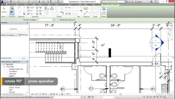 Adding symbols: Revit 2017: Essential Training for Architecture (Imperial)