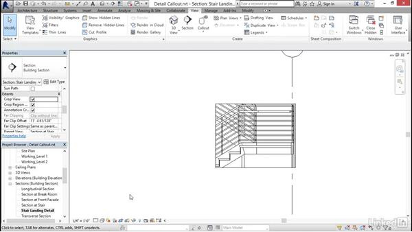 Creating a detail callout: Revit 2017: Essential Training for Architecture (Imperial)