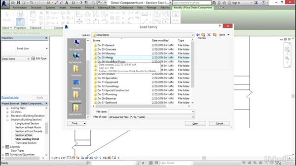 Adding detail components: Revit 2017: Essential Training for Architecture (Imperial)