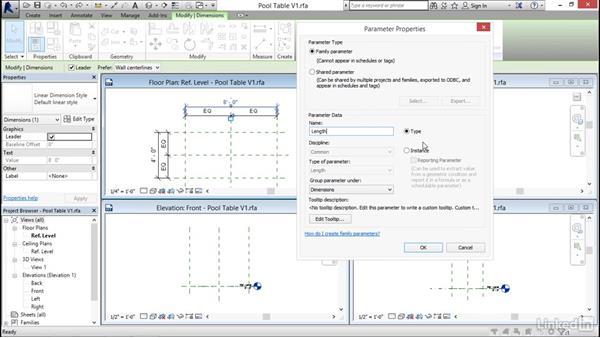 Using reference planes, parameters, and constraints: Revit 2017: Essential Training for Architecture (Imperial)