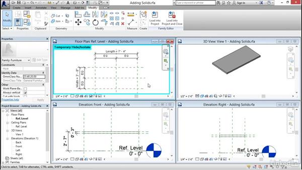 Adding solid geometry: Revit 2017: Essential Training for Architecture (Imperial)
