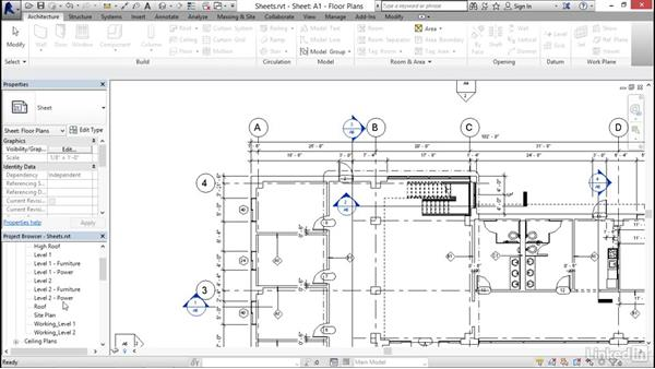 Working with sheets: Revit 2017: Essential Training for Architecture (Imperial)