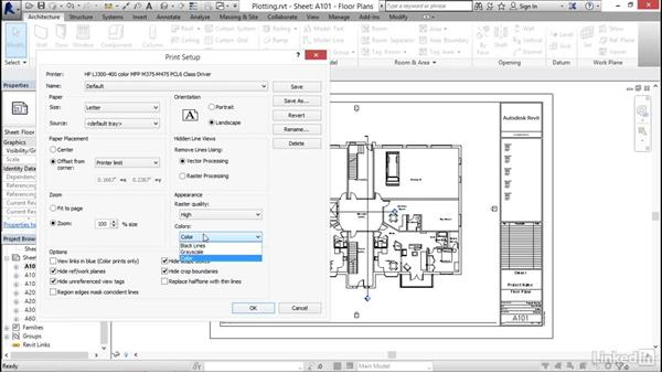 Plotting and printing to PDF: Revit 2017: Essential Training for Architecture (Imperial)