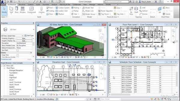 Introducing building information modeling (BIM): Revit 2017: Essential Training for Architecture (Metric)