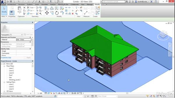 Understanding context ribbons: Revit 2017: Essential Training for Architecture (Metric)