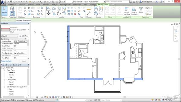 Using the Properties palette: Revit 2017: Essential Training for Architecture (Metric)