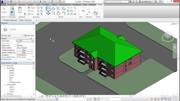 Using keyboard shortcuts in Revit: Revit 2017: Essential Training for Architecture (Metric)
