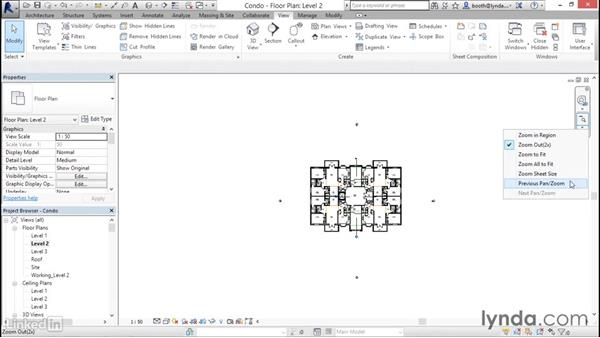 Navigating views (zoom, pan, and rotate): Revit 2017: Essential Training for Architecture (Metric)