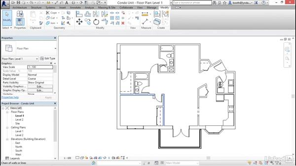 Selecting objects: Revit 2017: Essential Training for Architecture (Metric)