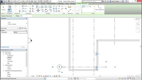 Adding grids: Revit 2017: Essential Training for Architecture (Metric)