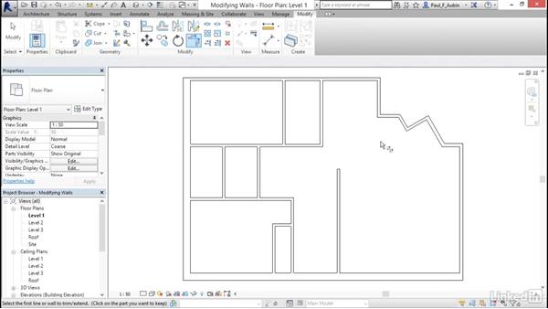 Using the Modify tools: Revit 2017: Essential Training for Architecture (Metric)
