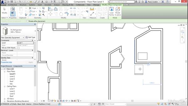 Adding plumbing fixtures and other components: Revit 2017: Essential Training for Architecture (Metric)