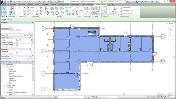 Creating floors: Revit 2017: Essential Training for Architecture (Metric)