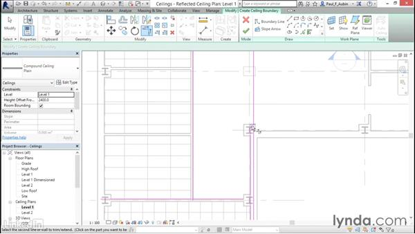 Working with ceilings: Revit 2017: Essential Training for Architecture (Metric)