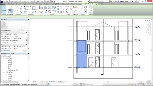 Adding openings: Revit 2017: Essential Training for Architecture (Metric)