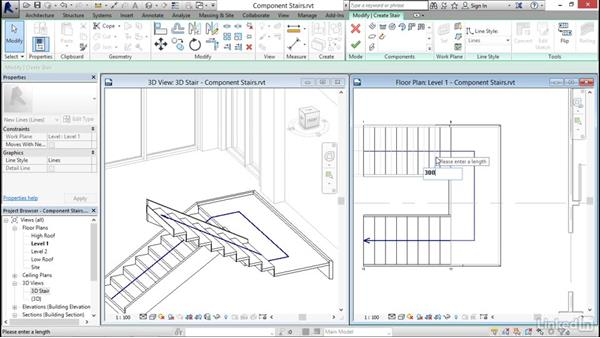 Working with component-based stairs: Revit 2017: Essential Training for Architecture (Metric)