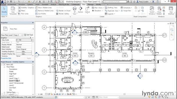 Working with visibility and graphic overrides: Revit 2017: Essential Training for Architecture (Metric)
