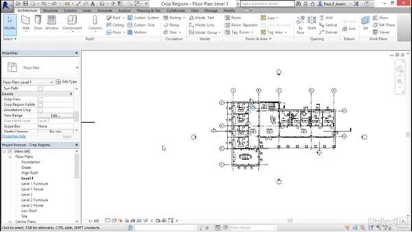 Understanding view extents and crop regions: Revit 2017: Essential Training for Architecture (Metric)