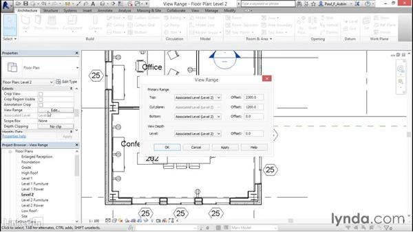 Understanding view range: Revit 2017: Essential Training for Architecture (Metric)