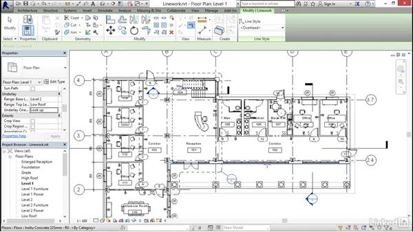 Using the Linework tool: Revit 2017: Essential Training for Architecture (Metric)