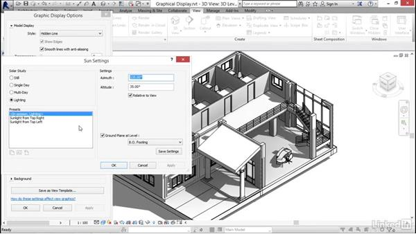 Using graphical display options: Revit 2017: Essential Training for Architecture (Metric)