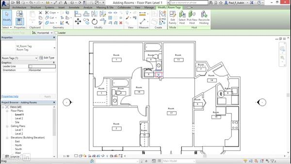 Adding rooms: Revit 2017: Essential Training for Architecture (Metric)