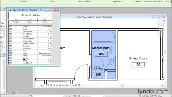 Understanding room bounding elements: Revit 2017: Essential Training for Architecture (Metric)