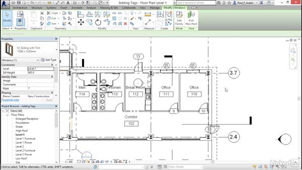 Understanding tags: Revit 2017: Essential Training for Architecture (Metric)