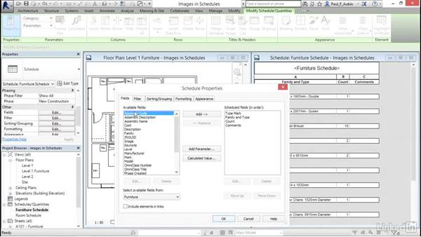 Using images in schedules: Revit 2017: Essential Training for Architecture (Metric)