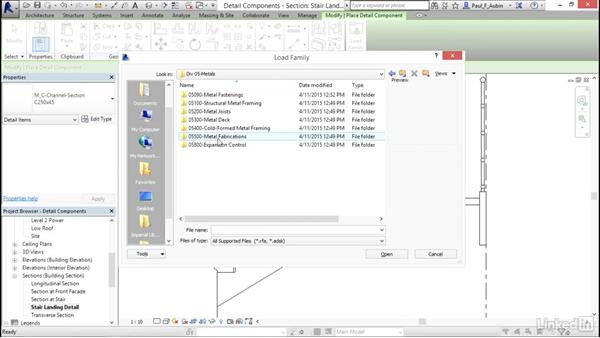 Adding detail components: Revit 2017: Essential Training for Architecture (Metric)