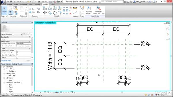 Adding blends: Revit 2017: Essential Training for Architecture (Metric)
