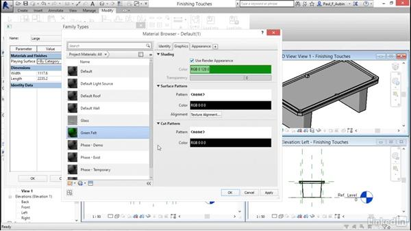 Completing the family: Revit 2017: Essential Training for Architecture (Metric)