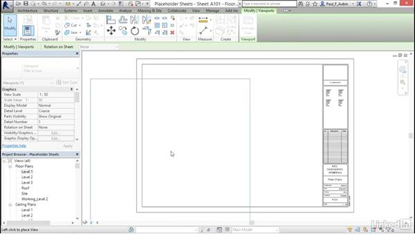 Working with placeholder sheets: Revit 2017: Essential Training for Architecture (Metric)
