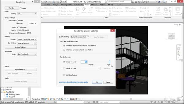 Rendering: Revit 2017: New Features for Architecture