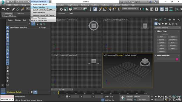 Choosing a workspace: 3ds Max 2017 Essential Training