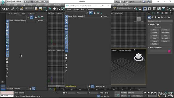 Getting familiar with the interface: 3ds Max 2017 Essential Training