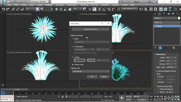 Specifying display units: 3ds Max 2017 Essential Training