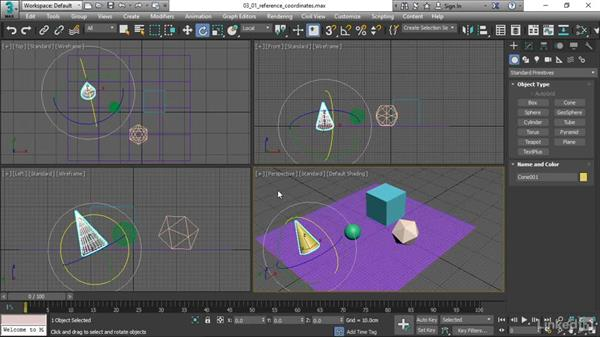 Choosing a coordinate system: 3ds Max 2017 Essential Training