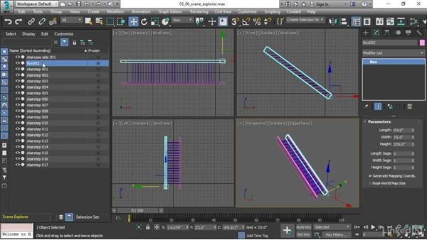 Working with the Scene Explorer: 3ds Max 2017 Essential Training