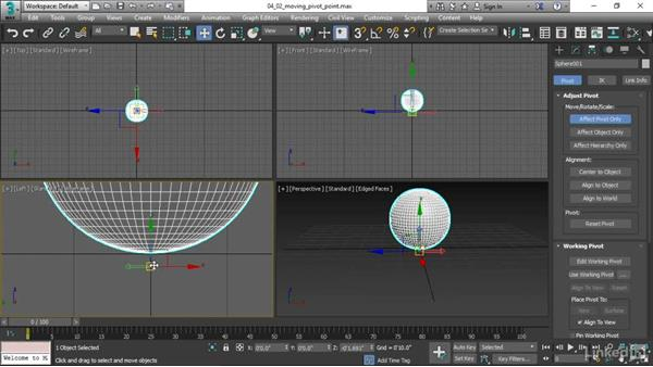 Moving a pivot point: 3ds Max 2017 Essential Training
