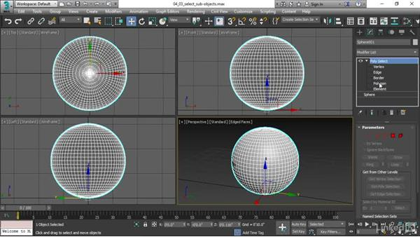 Selecting subobjects: 3ds Max 2017 Essential Training
