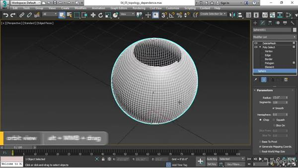 Understanding topology dependence: 3ds Max 2017 Essential Training
